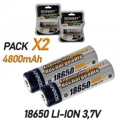 Batería 18650 Recargable 4800mAh